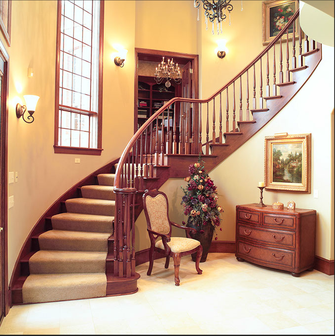 High Quality Curve Stairs
